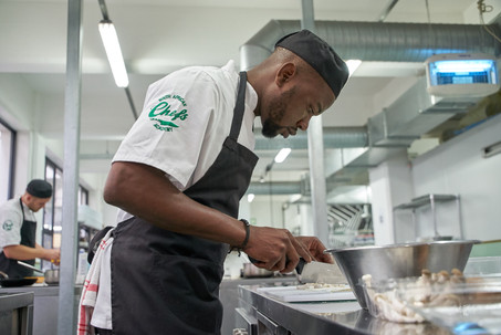 South African Chefs Academy black Student photographed by Naima Maleika