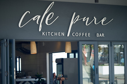 location photography of Cafe Pure in Plettenberg Bay, South Africa, photographed by Naima Maleika for Eden Magazine.