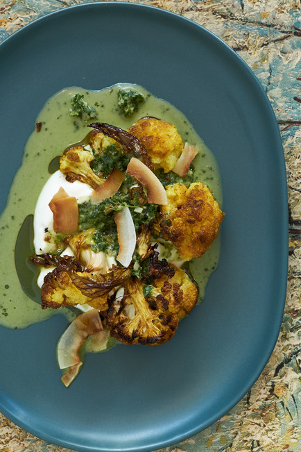 delectably food photography of Indian Spiced Cauliflower by Naima Maleika
