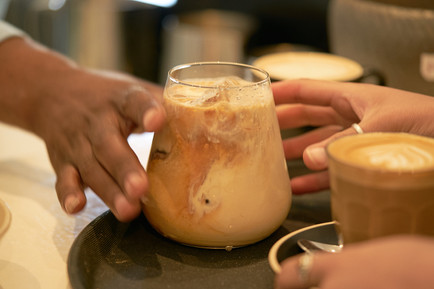 food and beverage photography of Ice coffee at Cafe Pure in Plettenberg Bay, South Africa, photographed by Naima Maleika for Eden Magazine.