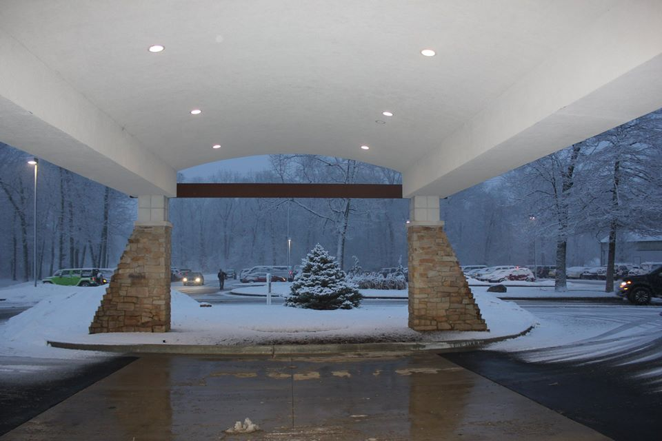 Gala Entrance - Snowy evening