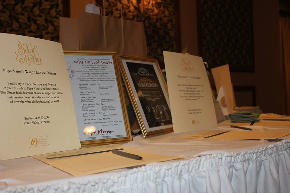 Silent Auction table 2