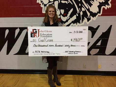Gail Crone 2018 grant.JPG
