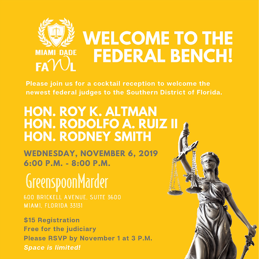 Welcome to the Federal Bench!