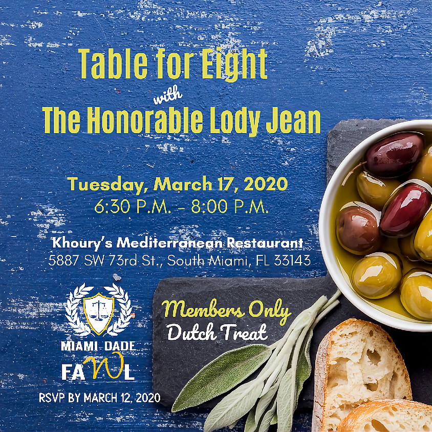 Table for Eight with The Honorable Lody Jean
