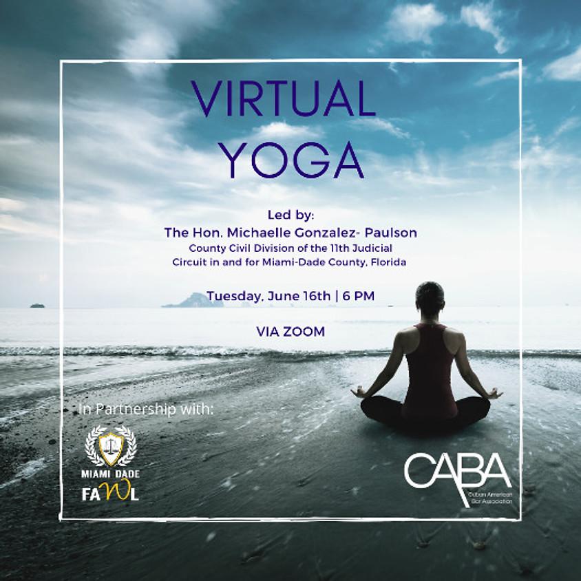 Virtual Yoga Led by The Honorable Michaelle Gonzalez-Paulson