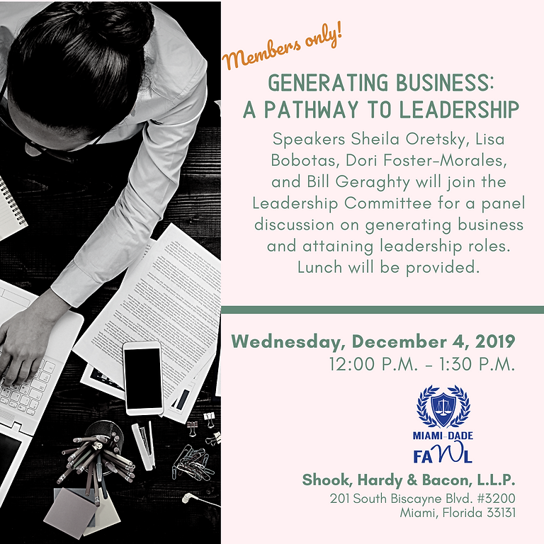 Generating Business: A Pathway to Leadership