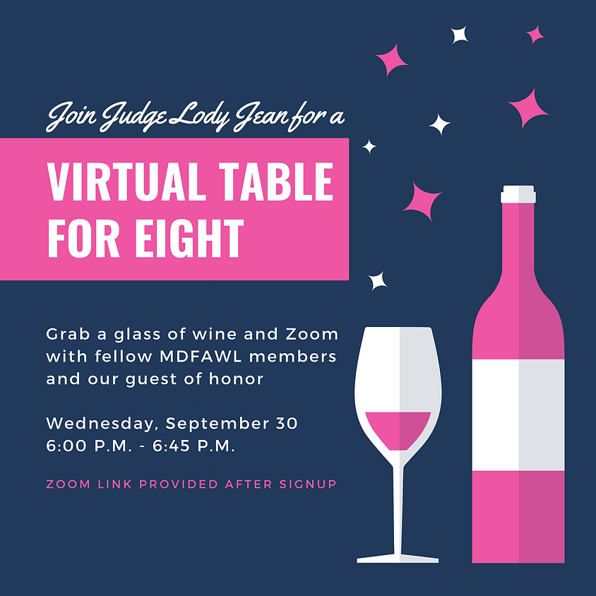 Virtual Table for Eight with Judge Lody Jean