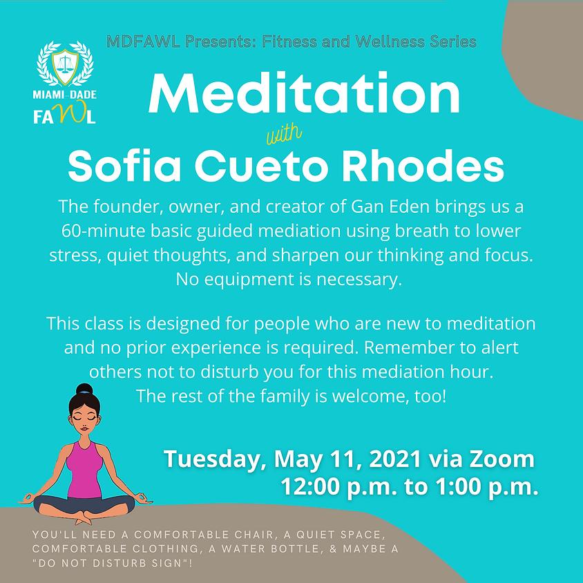 Fitness and Wellness Series:  Meditation