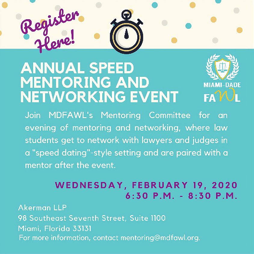 Annual Speed Mentoring and Networking Event