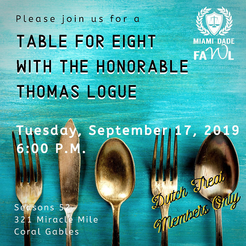 Table for Eight with the Honorable Thomas Logue