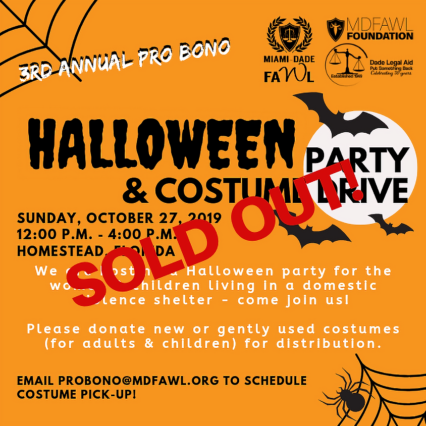 Halloween Party & Costume Drive