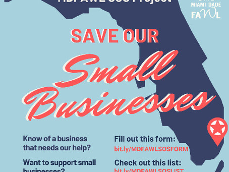MDFAWL SOS Project: Save Our Small Businesses