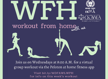 "MDFAWL & GSCBWLA Workout From Home (""WFH"")"