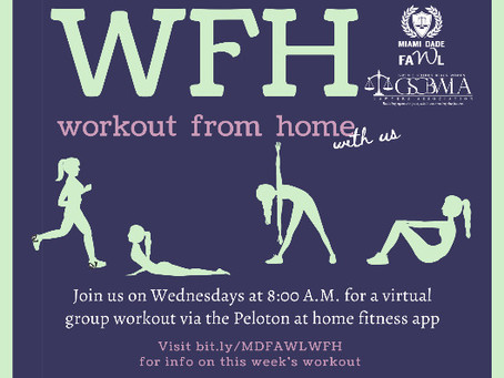 """MDFAWL & GSCBWLA Workout From Home (""""WFH"""")"""