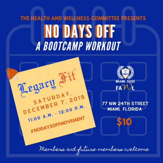 No Days Off: A Bootcamp Workout
