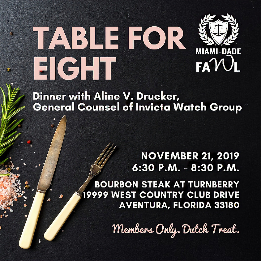 Table for Eight with General Counsel of Invicta Watch Group