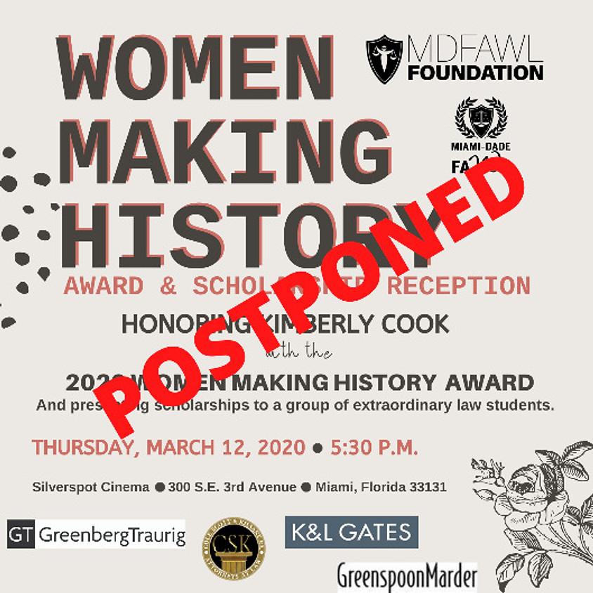 Women Making History Award & Scholarship Reception
