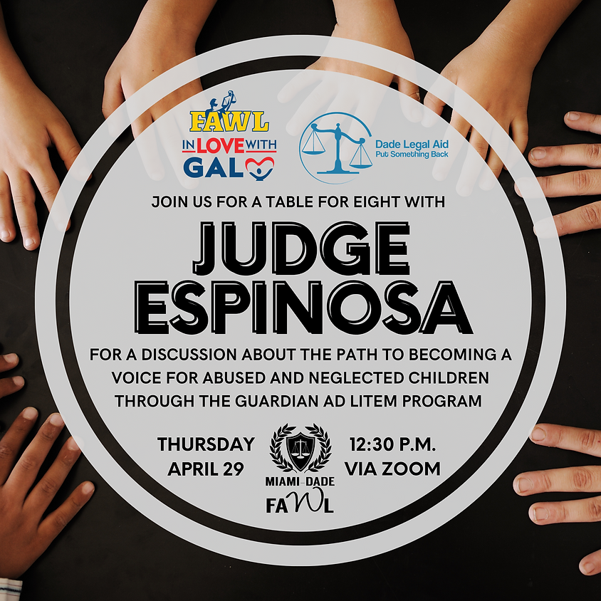 Table for Eight with Judge Espinosa