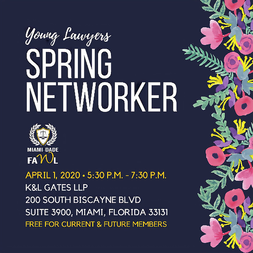 Young Lawyers Spring Networker