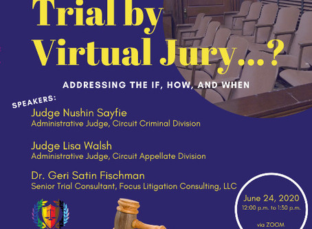 "Watch ""Trial by Virtual Jury . . .?"" on Facebook Live!"