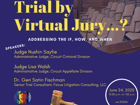 """Watch """"Trial by Virtual Jury . . .?"""" on Facebook Live!"""