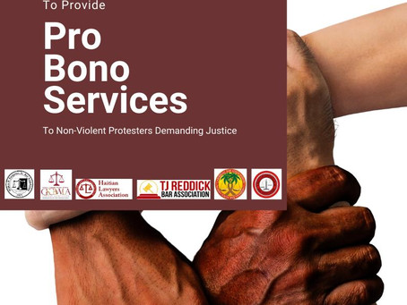 Sign Up Today to Join the Movement and Provide Pro Bono Services to Non-Violent Protestors!