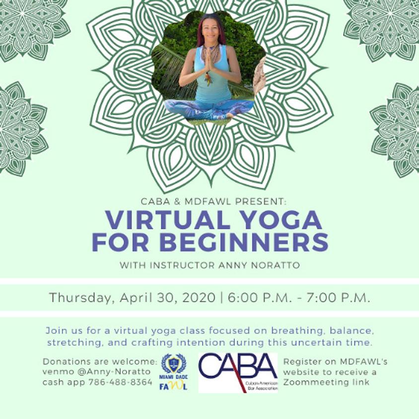 CABA & MDFAWL Present: Virtual Yoga for Beginners