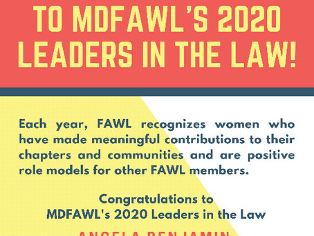 2020 FAWL Leaders in the Law Honorees Announced!