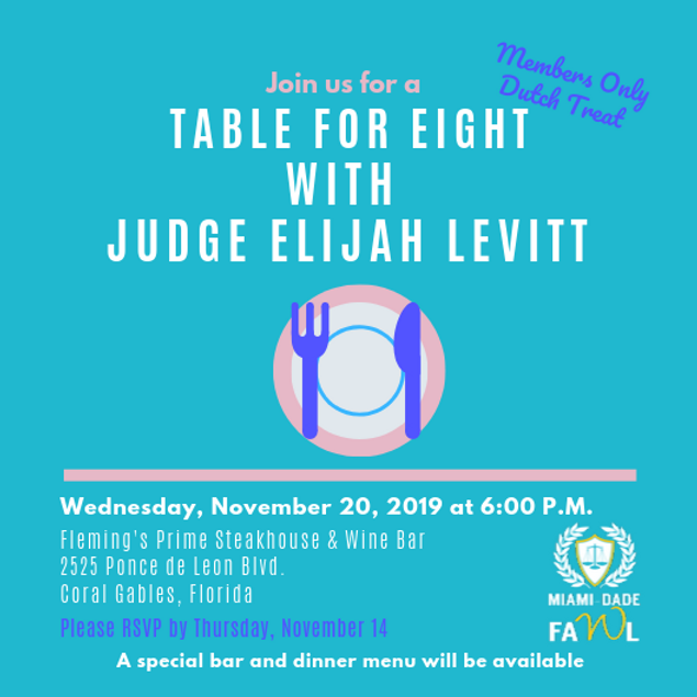 Table for Eight with Judge Elijah Levitt