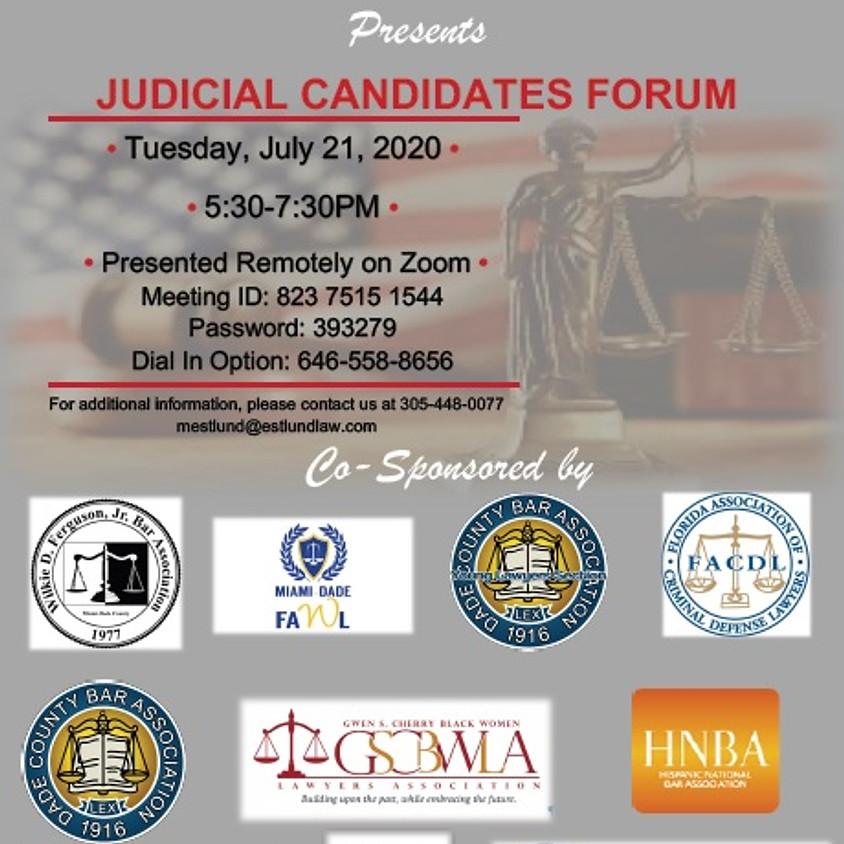 Judicial Candidates Forum
