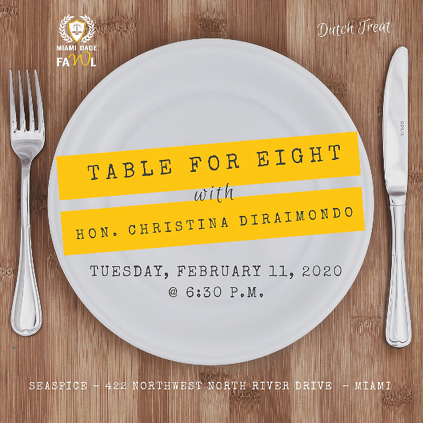 Table for Eight with Honorable Christina DiRaimondo