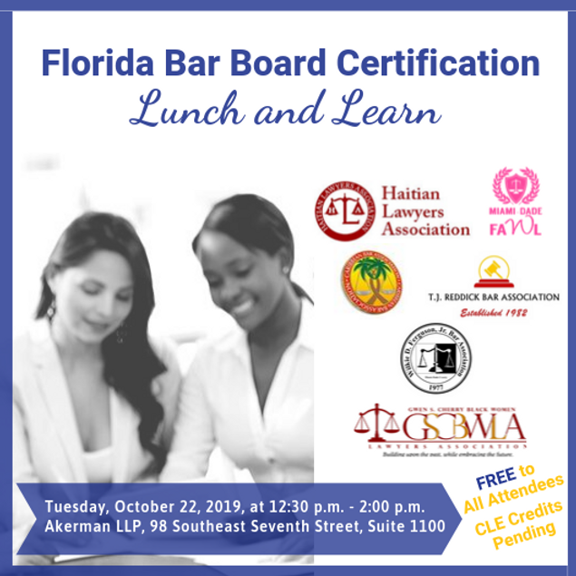 The Florida Bar Board Certification Lunch and Learn