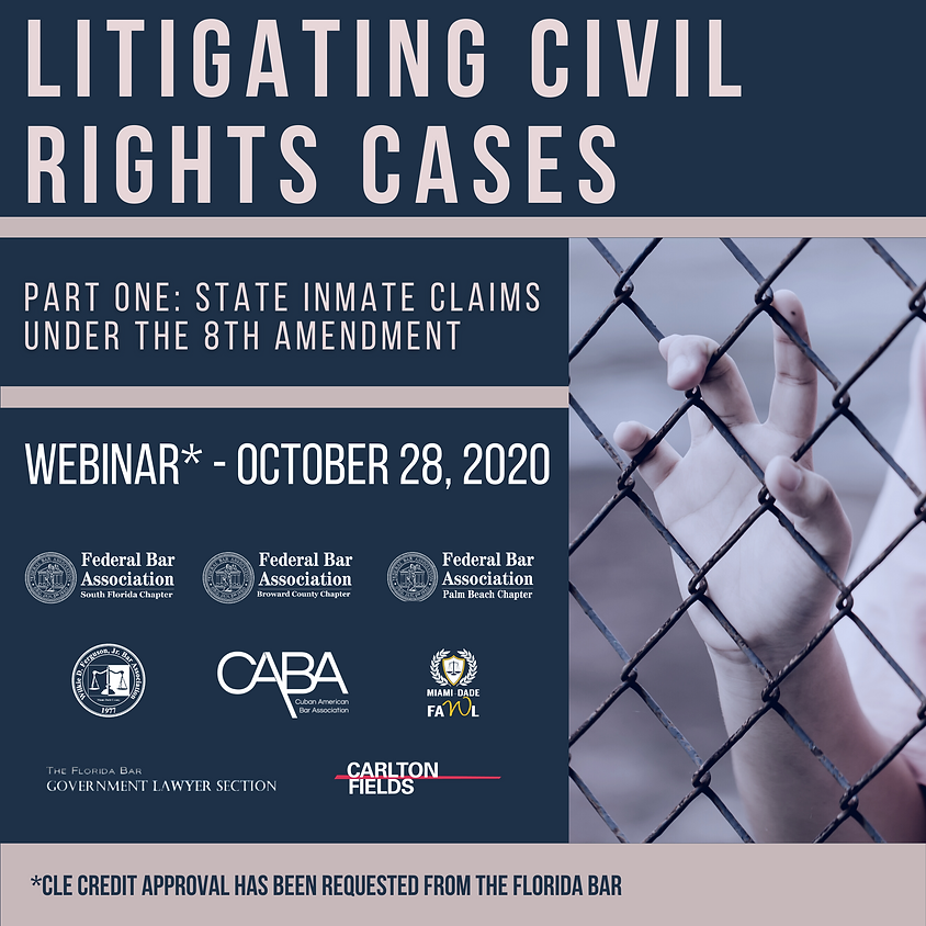 Litigating Civil Rights Webinar - Part One: State Inmate Claims Under the 8th Amendment