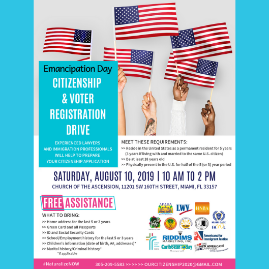 Emancipation Day: Citizenship & Voter Registration Day