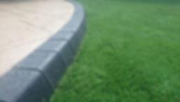 Imprinted concrete & astro turf