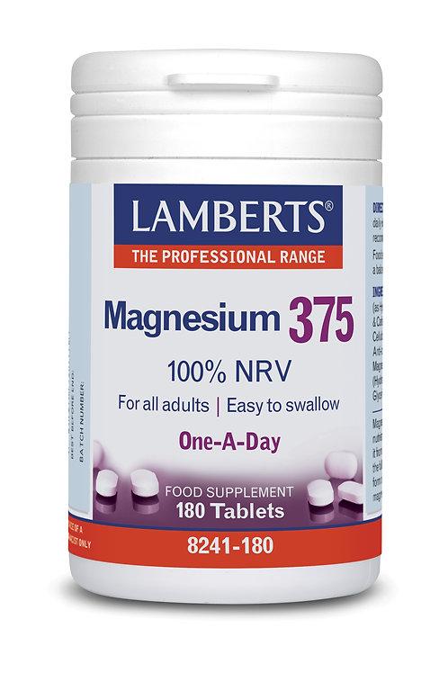 Lamberts Health Care Magnesium 375 180 Tabs