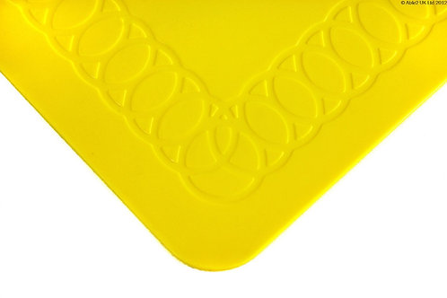 Anti Slip Rectangle Table Mat 25cmx18cm - Yellow