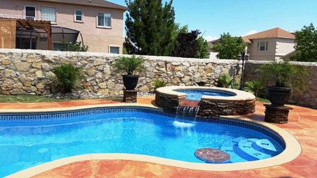 Custom swimming pools el paso bar tables for Pool design el paso tx