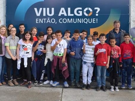 Semana do Meio Ambiente: Alunos da Escola Hans Ludwig Schmidt conhecem as instalações da Pedreira Vo