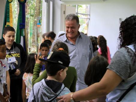 Escola José Pereira de Borba visita Estação de Tratamento de Esgoto (ETE) da Prefeitura de Itapeceri