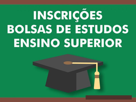 Inscrições para Bolsa de Estudos Ensino Superior vão de 22 a 31 de janeiro