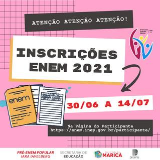 Inscrições para o ENEM 2021