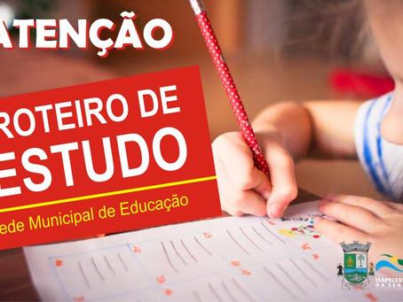 Roteiro de Estudos para Alunos da rede Municipal de Ensino