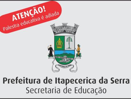 Palestra sobre educação inclusiva é adiada
