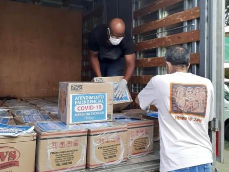 Prefeitura garante distribuição de cestas básicas aos alunos da rede municipal de Ensino