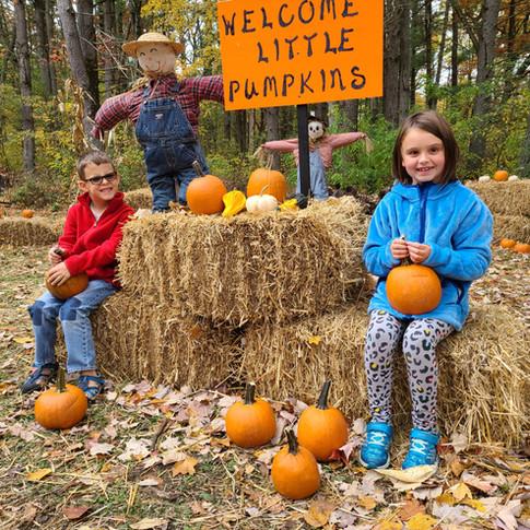 Everyone gets a pumpkin.