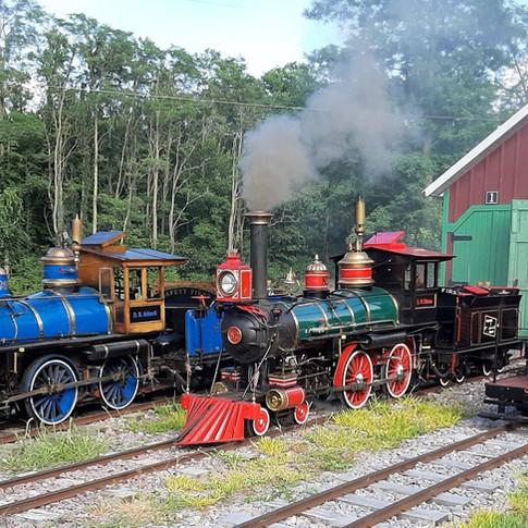 Engines 98, 82, & Tom Thumb