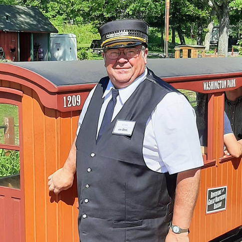 Conductor Kevin looks foward to meeting you!