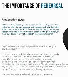 Speech rehearsal guide